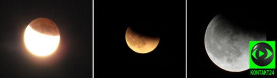 Zaćmienie Księżyca w obiektywach Reporterów 24