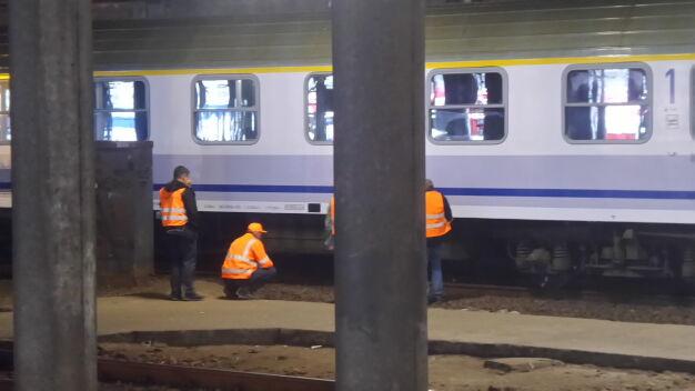 Pociąg wykoleił się na Dworcu Centralnym