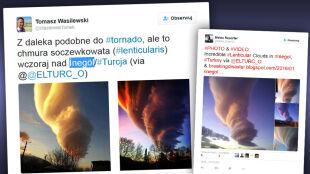 Chmura jak tornado nad Turcją