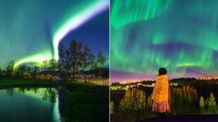 Światła zgasły, a stolicę Islandii rozświetliła zorza polarna