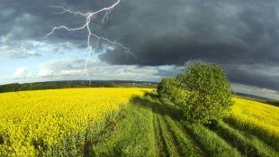 Prognoza pogody na dziś: przelotny deszcz i lokalne burze, do 22 stopni
