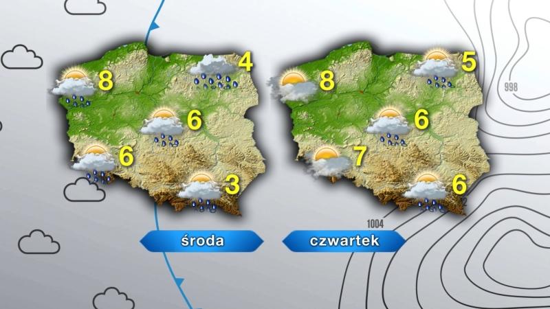 Pogoda w środę i czwartek