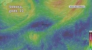 Prognozowana trasa przejścia burzy tropikalnej Sebastien (Ventusky.com)